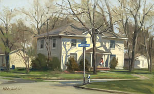 First and Jefferson-Plein Air - 9.68 x 15.75 - $2100