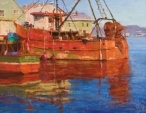 """Gloucester Harbor"" - 11""x 14"" - Oil"