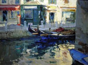 "(Gold Medal) - Charles Iarrobino - ""Early Morning Beside Rio Maddalena"" - 18""x 24"" - Oil"