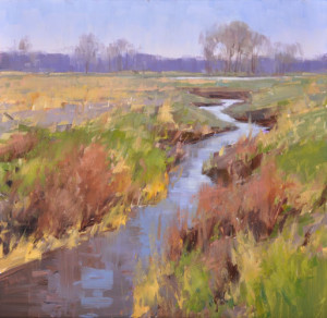"""(PleinAir Magazine Award of Excellence) - Stacey Peterson - """"Finally Spring"""" - 12""""x 12"""" - Oil"""