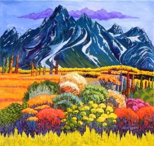 """""""Teton Garden"""" - 30""""x 30"""" - Acrylic"""