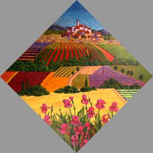 """Tuscany Color"" - 48""x 48"" - Acrylic"