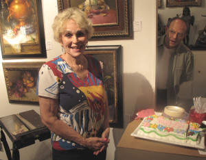 The delightful Ann Hardy is honored with a surprise 80th birthday party at Southwest Gallery in Dallas.