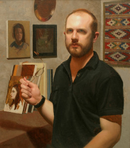 "Best of Show - Danny Grant - ""Self Portrait with Glasses"" - 24""x 21"" - Oil"
