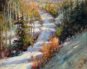 """Cross Country Ski Path"" - 16""x 20"" - Oil"
