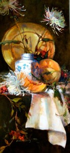 """""""Ginger Jar and Spiders"""" - 48""""x 27"""" - Oil"""