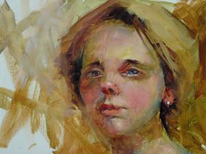 """""""Girl in Turban"""" - 12""""x 16"""" - Oil"""
