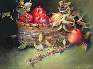 """Honeycrisp Harvest"" - 18""x 24"" - Oil"