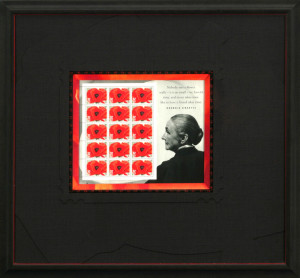 Georgia O'Keefe Red Poppy Stamp Sheet