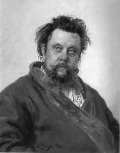 """Il'ya Repin - """"Portrait of the Composer Modest Musorgsky"""" - Oil - 1881"""
