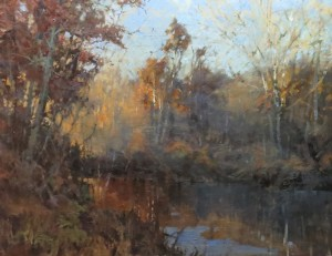 """Autumn Along the River"" - 30""x 40"" - Oil"