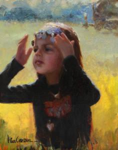 """""""Little Gypsy Girl"""" - 14""""x 11"""" - Oil"""