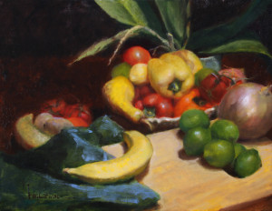 """""""Under the Stove Light"""" - 14""""x 18"""" - Oil"""