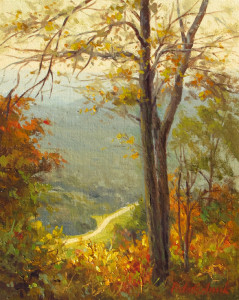 """Pinnacle Overlook - Cumberland Gap National Park"" - 10""x 8"" - Oil"