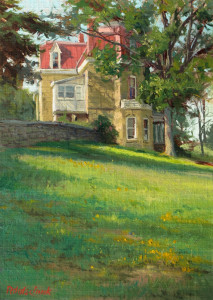"""The Jones House (1881), Tallgrass Prairie National Preserve"" - 13.5""x 9"" - Oil"