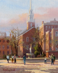 """The Old North Church - Boston"" - 10""x 8"" - Oil"