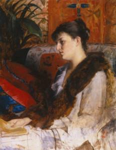 "Marie Bashkirtseff (1858-1884) - ""Portrait of Madame P.B."" - Oil (1881)"