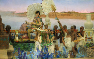 """Sir Lawrence Alma-Tadema (1836-1912) - """"The Finding of Moses"""" - 55""""x 84"""" - Oil (1904)"""