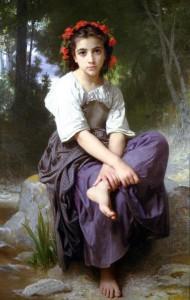 "William Adolphe Bouguereau (1825-1905) - ""Au Bord du Ruisseau (At the Edge of the Stream)"" - Oil - 1875"