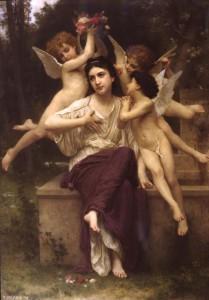 "William Adolphe Bouguereau - ""Reve de printemps"" (Dream of Spring) - Oil - 1901"