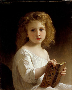 """William Adolphe Bouguereau ( 1825-1905) - """"The Story Book"""" - Oil"""