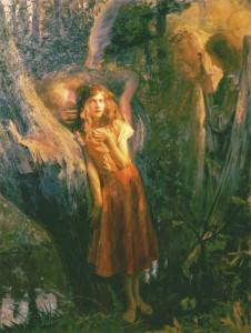 """Gaston Bussiere (1862-1928) - """"Joan of Arc"""" - Oil - 1908"""