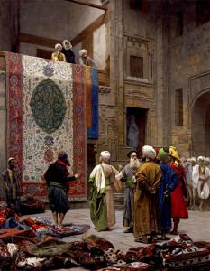 """Jean-Leon Gerome _(1824-1904) - """"The Carpet Merchant"""" - Oil (1887)"""