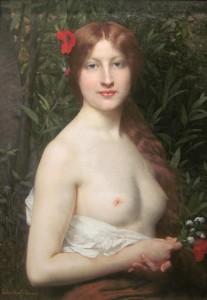 """Jules Joseph Lefebvre (1836-1911) - """"Fleurs des Champs"""" (Wildflowers) - Oil"""