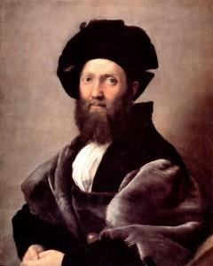 """Raphael (1483-1520) - """"Portrait of Baldassare Castiglione"""" - Oil (1515)"""