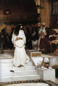 "John William Waterhouse (1849-1917) - ""Marianne Leaving the Judgement Seat  of Herod"" - Oil (1887)"