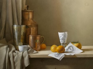 """""""Arrangement with Selected Sketches"""" - 18""""x 24"""" - Oil on panel"""