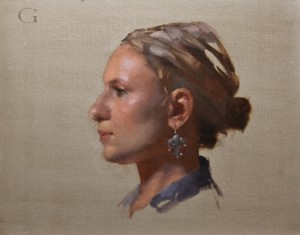 """Portrait of a Young Lady"" - 11""x 14"" - Oil on panel (alla prima)"