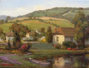 "John Pototschnik - ""O Beautiful Countryside"" - 18""x 24"" - Oil"