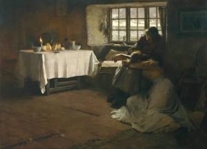 "Frank Bramley - ""A Hopeless Dawn"" - 48.5""x 66"" - Oil (1888)"