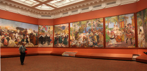 """Just a partial view of the 14 murals Sorolla produced en plein air for the series """"The Vision of Spain"""", now installed in the New York Hispanic Society of America."""