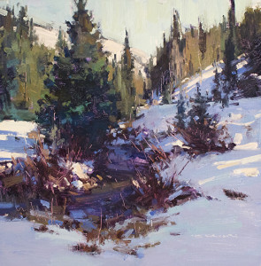 """First Snow"" - 12""x 12"" - Oil"