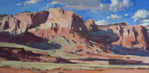 """Red Rock Riot"" - 12""x 24"" - Oil"