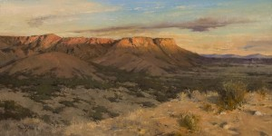 """""""End of a Good Day"""" - 12""""x 24"""" - Oil"""