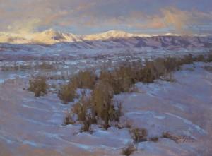 """""""Winter's Footprint"""" - 11""""x 14"""" - Oil"""