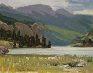 """Nancy Boren - """"Lake San Cristobal"""" - 11""""x 14"""" - Oil"""