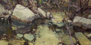 "Jill Carver - ""Spring Waters"" - 24""x 48"" - Oil"