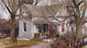 """Ted Clemens - """"Red Window"""" - 10""""x 18"""" - Oil"""