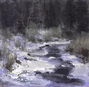 "Kaye Franklin - ""Winter on the San Juan"" - 12""x 12"" - Oil"