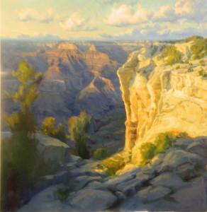 """Becky Joy - """"Grand Canyon Glow"""" 48""""x 48"""" - Oil"""
