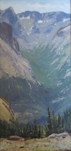 """Richard Prather - """"Across the Forest Valley"""" - 16""""x 8"""" - Oil"""