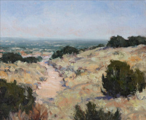 "Janice Krendick - ""Albuquerque Landscape"" - 10""x 12"" - Oil (Award of Merit)"