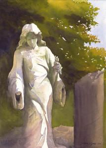 """Susan Lynn - """"In Repose"""" - 14""""x 10"""" - Watercolor (Award of Merit)"""