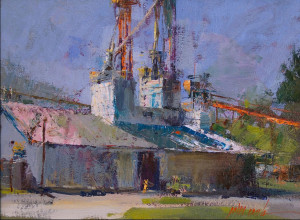 """John Cook - """"Twin Towers"""" - 12""""x 16"""" - Oil   (Honorable Mention)"""