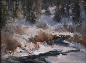 "Kaye Franklin - ""Snow on the San Juan"" - 11""x 14"" - Oil (Award of Merit)"