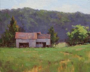 """Dianne Frossard - """"Back Meadow"""" - 8""""x 10"""" - Oil"""